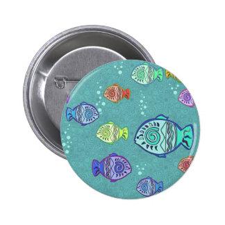 Modelo de los pescados del clip art + sus ideas pin redondo de 2 pulgadas