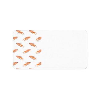 Modelo de los pescados del paraíso etiqueta de dirección
