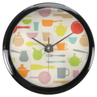 Modelo de los platos relojes acuario