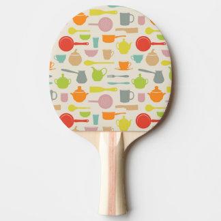 Modelo de los platos pala de tenis de mesa