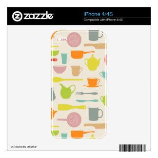 Modelo de los platos calcomanías para el iPhone 4