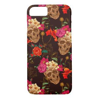 Modelo de los rosas de n de los cráneos ' funda iPhone 7