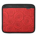 Modelo de los rosas rojos funda para iPads