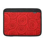Modelo de los rosas rojos fundas para macbook air