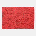 Modelo de los rosas rojos toalla de mano