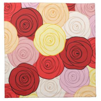 Modelo de los rosas servilletas de papel