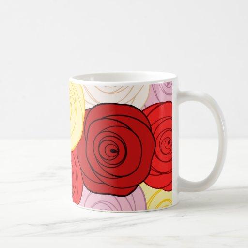 Modelo de los rosas taza