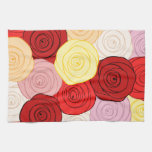Modelo de los rosas toalla