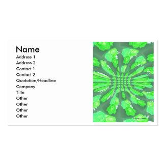 Modelo de los rosas verdes plantilla de tarjeta de negocio