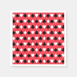 Modelo de los símbolos del naipe del póker del servilletas desechables