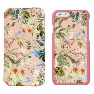 Modelo de los Wildflowers del vintage Funda Billetera Para iPhone 6 Watson