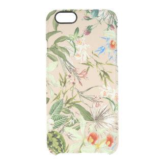 Modelo de los Wildflowers del vintage Funda Clear Para iPhone 6/6S