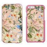 Modelo de los Wildflowers del vintage Funda Cartera Para iPhone 6 Watson