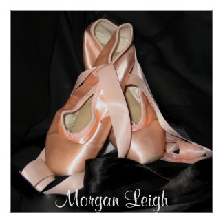 Modelo de los zapatos de ballet poster