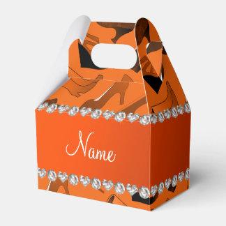 Modelo de los zapatos de las mujeres anaranjadas cajas para regalos
