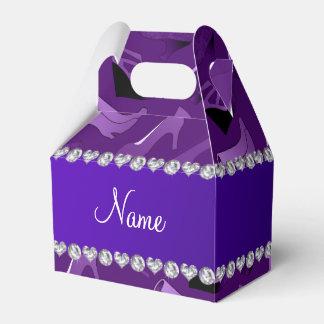 Modelo de los zapatos de las mujeres púrpuras caja para regalos de fiestas