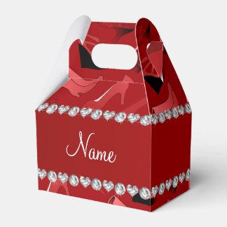Modelo de los zapatos de las mujeres rojas cajas para detalles de boda