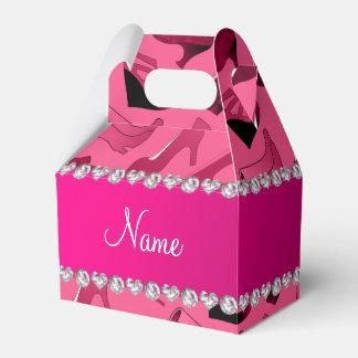 Modelo de los zapatos de las mujeres rosadas caja para regalo de boda