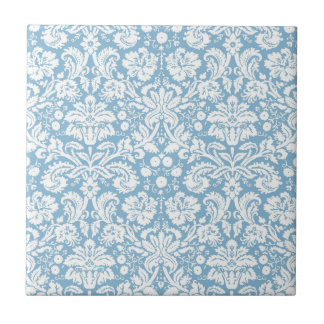 Modelo de lujo azul del damasco azulejo cuadrado pequeño