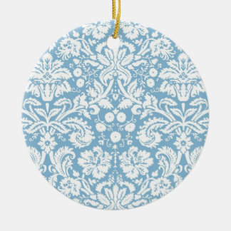 Modelo de lujo azul del damasco adorno redondo de cerámica