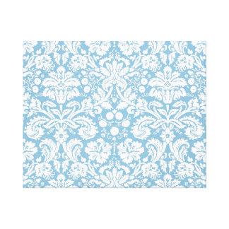 Modelo de lujo azul del damasco impresión en lona