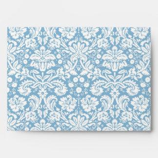 Modelo de lujo azul del damasco