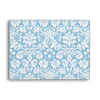 Modelo de lujo azul del damasco sobres