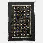Modelo de lujo del damasco del vintage del negro y toalla de mano
