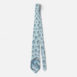 Modelo de lujo del delfín corbatas personalizadas