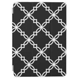 Modelo de lujo grande blanco negro de Quatrefoil Cubierta De iPad Air