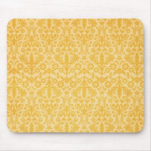 Modelo de lujo Mousepad del damasco del oro Tapete De Raton