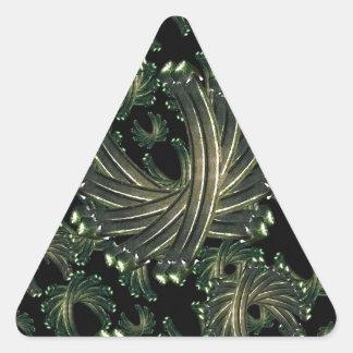 Modelo de lujo ornamental pegatina triangular