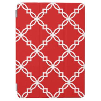 Modelo de lujo rojo y blanco de Quatrefoil Cover De iPad Air