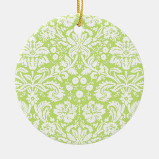 Modelo de lujo verde del damasco adorno redondo de cerámica