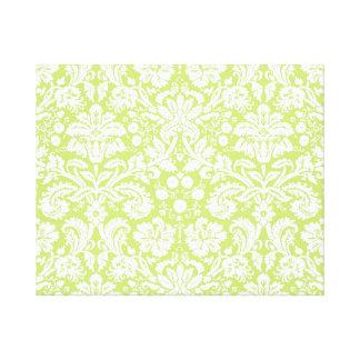 Modelo de lujo verde del damasco impresión de lienzo