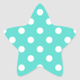 Modelo de lunar azul del trullo pegatina en forma de estrella