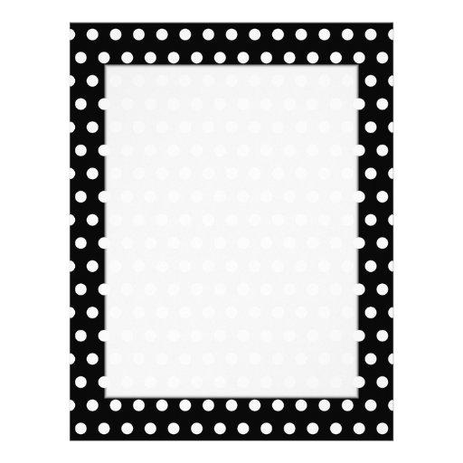 Modelo de lunar blanco y negro. Manchado Membretes Personalizados