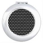 Modelo de lunar blanco y negro. Manchado Espejo Maquillaje