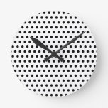 Modelo de lunar blanco y negro. Manchado Reloj