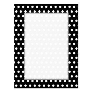 Modelo de lunar blanco y negro. Manchado Postal