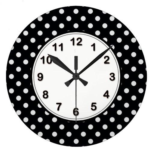 Modelo de lunar blanco y negro relojes de pared