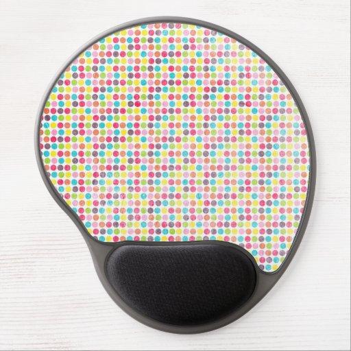 Modelo de lunar colorido del círculo del Grunge Alfombrilla Con Gel