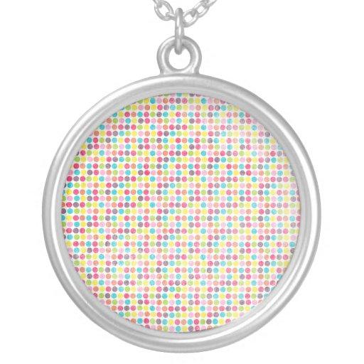 Modelo de lunar colorido del círculo del Grunge Pendientes Personalizados