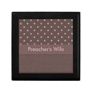 Modelo de lunar de la esposa del predicador joyero cuadrado pequeño