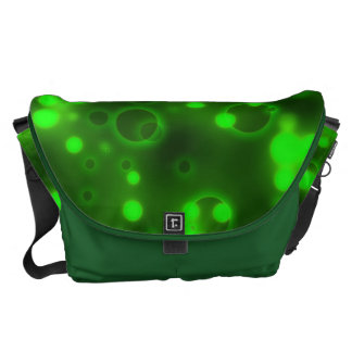Modelo de lunar de las luces verdes bolsa de mensajeria