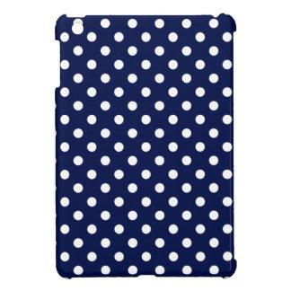 Modelo de lunar de los azules marinos y del blanco iPad mini coberturas