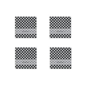 Modelo de lunar de moda blanco negro de la imán de piedra