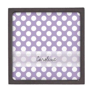 Modelo de lunar de moda blanco púrpura de la cajas de regalo de calidad