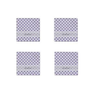 Modelo de lunar de moda blanco púrpura de la imán de piedra