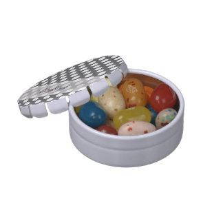 Modelo de lunar del blanco gris de carbón de leña frascos de dulces